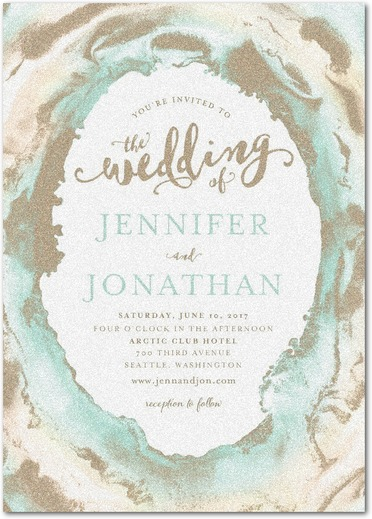 Waves Of Love Wedding Invitations Sea Glass