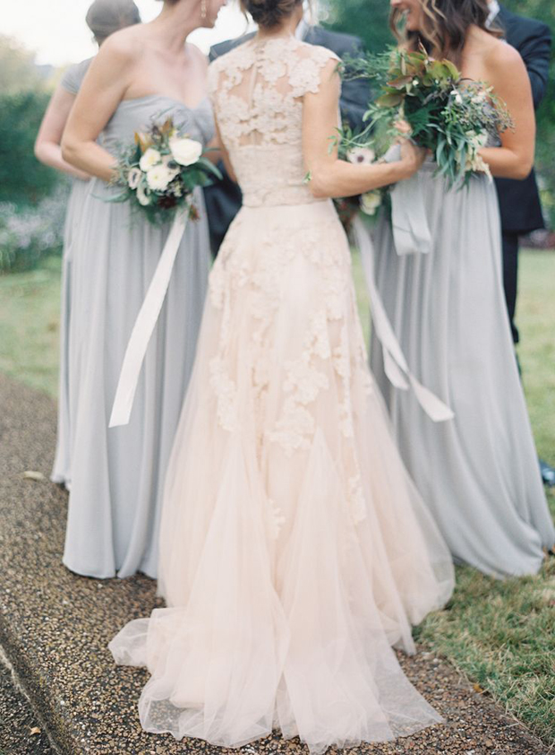 blush and slate grey wedding ideas