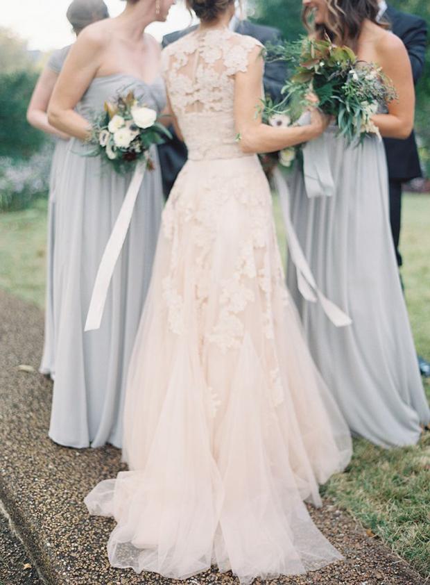 blush and slate grey wedding ideas