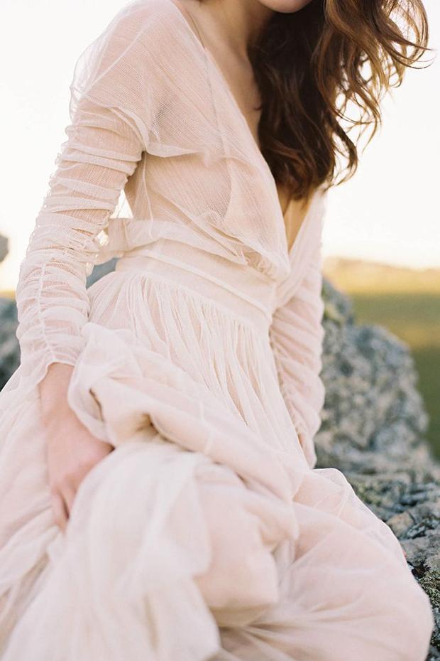 blush wedding dress inspiration