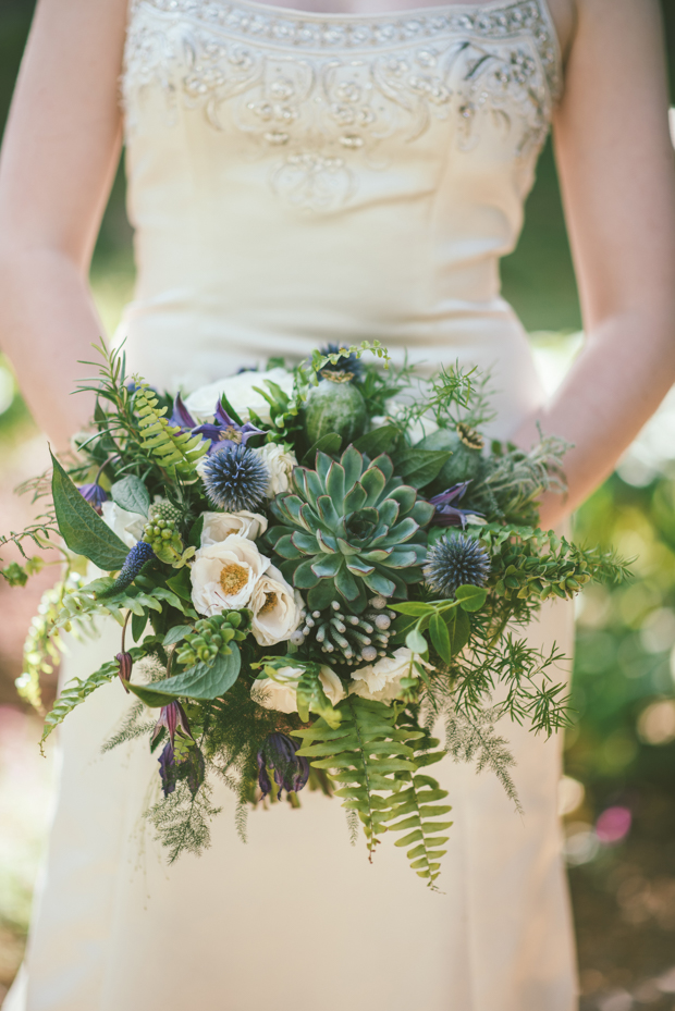 A Botanical 1930s Style, English Garden Inspired Wedding: Adam & Kathryn
