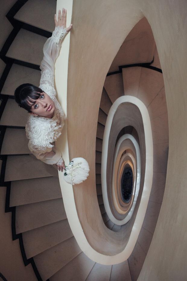 Dramatic Italian Affair Real Wedding & Yolan Cris Bride: Agnese & James