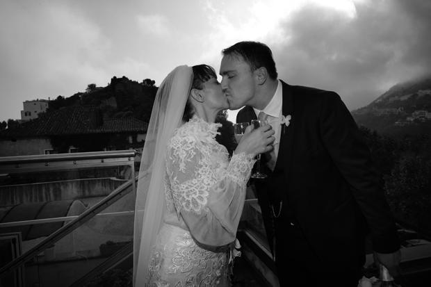 Dramatic Italian Real Wedding & Yolan Cris Bride: Agnese & James