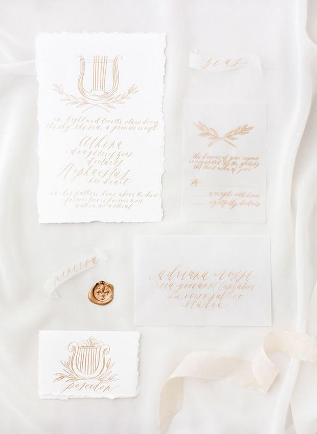 copper wedding calligraphy