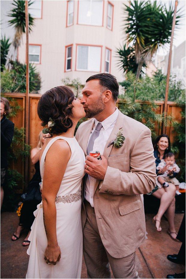 An Intimate Wedding With BHLDN Bride Rocking Red Lips & Badgley Mischka Shoes: Robert & Evett