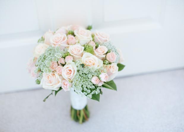 Pretty Pale Peachy Pink Romantic Barn Wedding: Holly & Rob