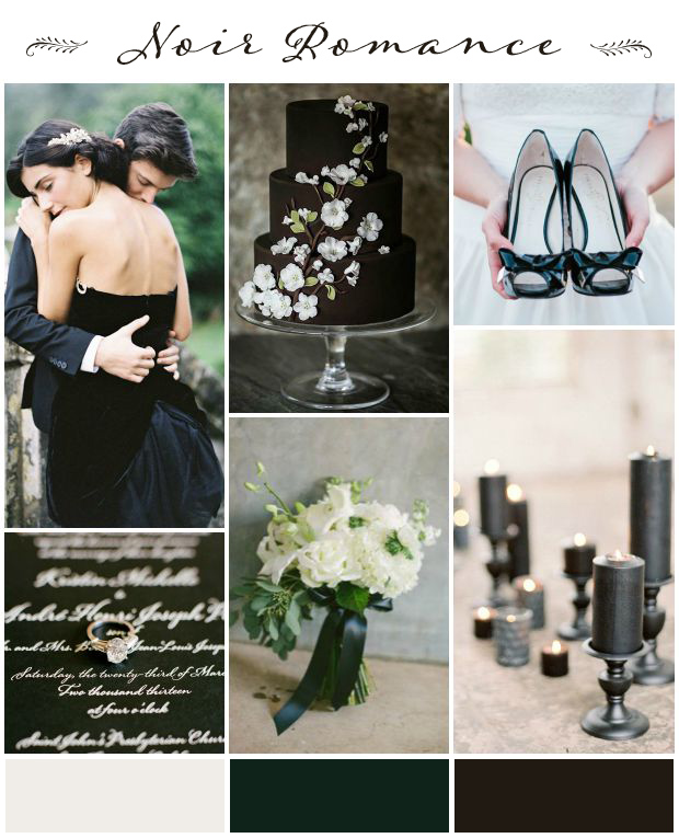 Noir Romance: Beautiful Shades of Black Wedding Inspiration