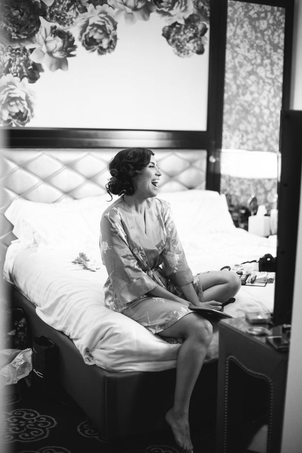 An Intimate Wedding With BHLDN Bride Rocking Red Lips & Badgley Mischka Shoes: Robert & Evett