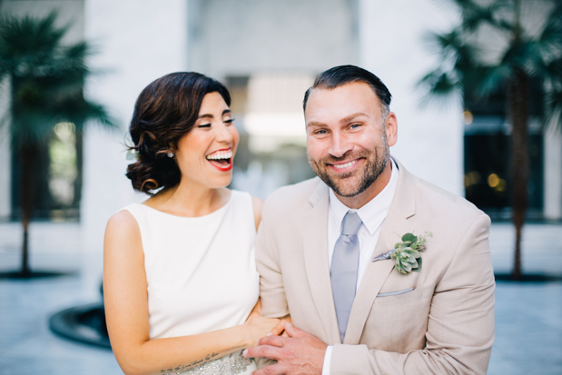 An Intimate Wedding With BHLDN Bride Rocking Red Lips & Badgley Mischka Shoes: Robert & Evette