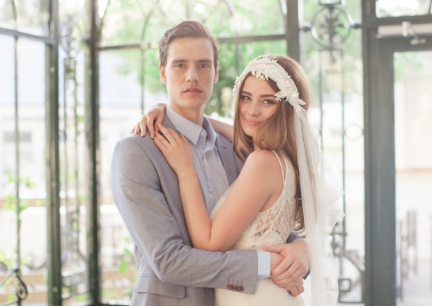 Ode to Scandinavia! The Jannie Baltzer 2016 Bridal Headpiece & Veil Collection