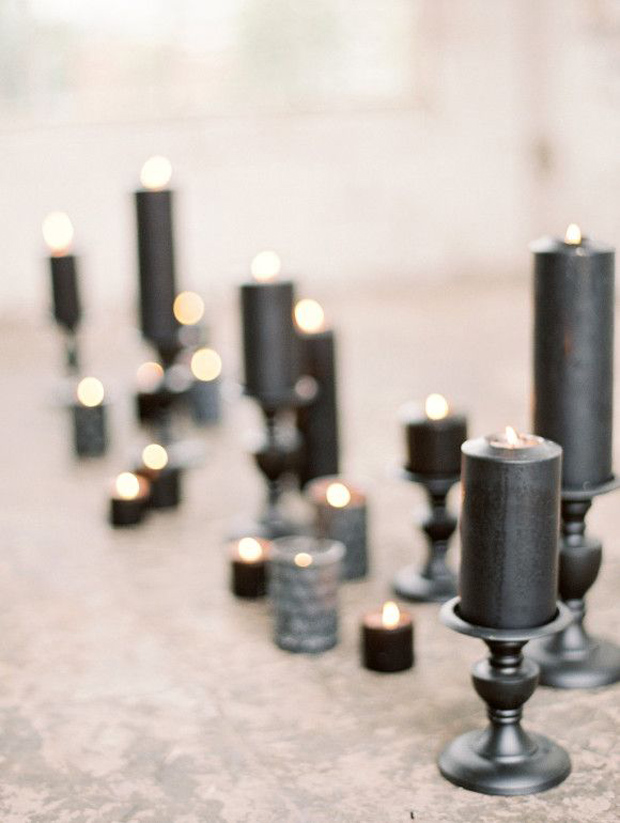 black candles for weddings