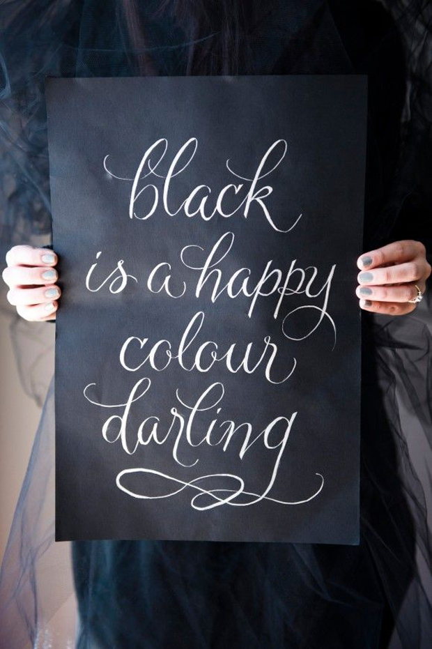 black is a happy colour darling