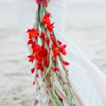 fiesta red wedding inspiration - flowers