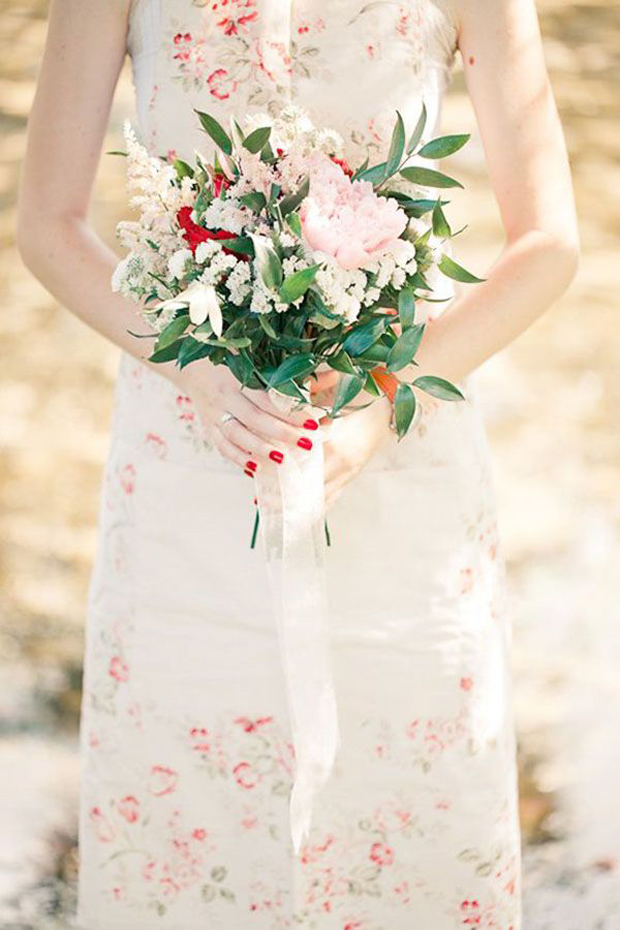 red floral wedding dress claire pettibone