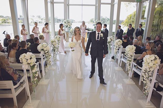 Romantic White Wedding With Dreamy David Austin Rose's & Ranunculus: Ashlee & Luke