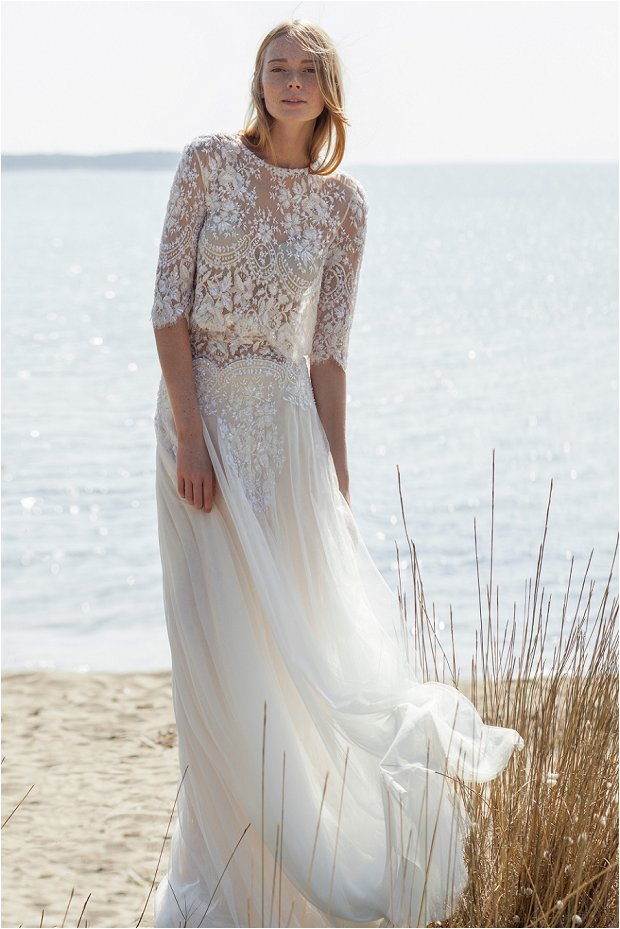 The costarellos bride romantic chic wedding gowns for the for Bohemian wedding dress shops