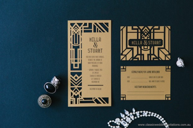 DL gatsby invitation