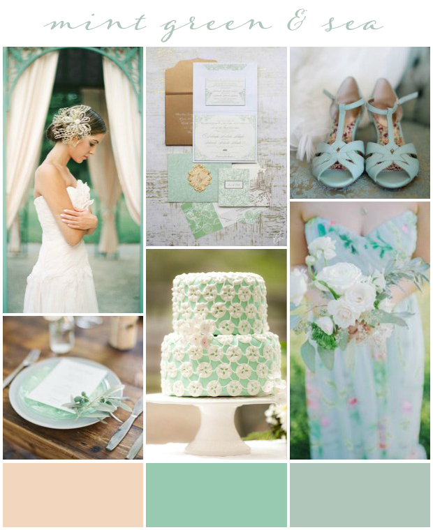 Mint Wedding Ideas: Mint Green & Sea: Wedding Inspiration Colour & Ideas