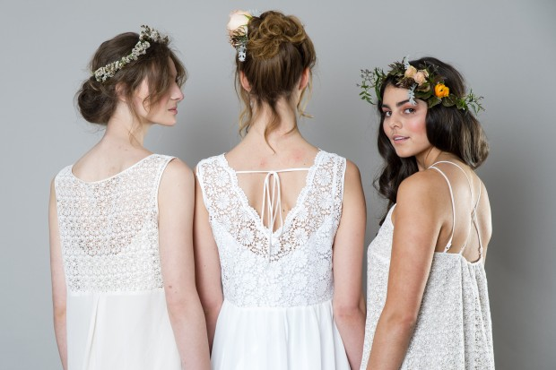 Stylish White Bridemaid Dresses Captivating Bridesmaids by Sally Eagle (1)
