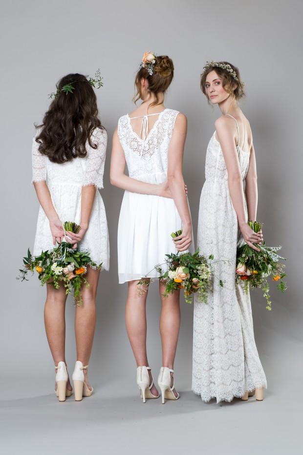 Stylish White Bridemaid Dresses Captivating Bridesmaids by Sally Eagle (10)