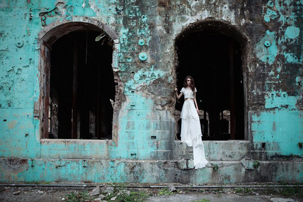 Azure Blue & Old Gold Wedding Inspiration