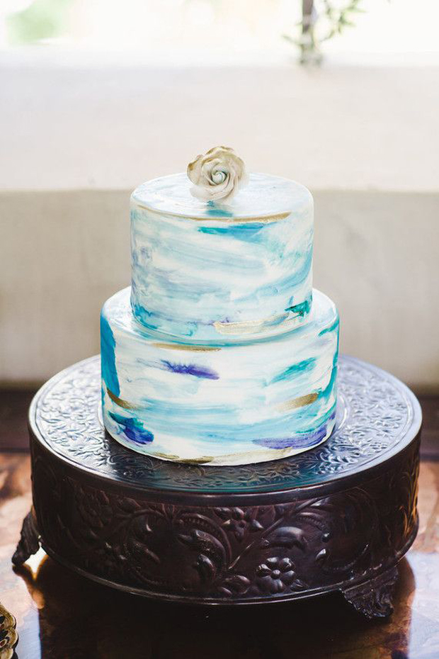 Azure Blue & Old Gold Wedding Inspiration