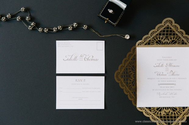 baroque lace wedding invite