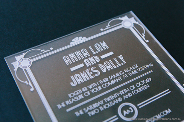 great gatsby wedding invite