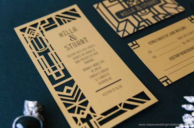 greaty gatsby wedding invite