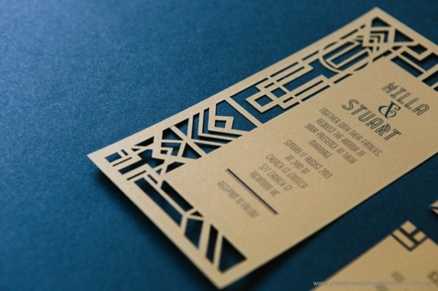 laser cut wedding invite