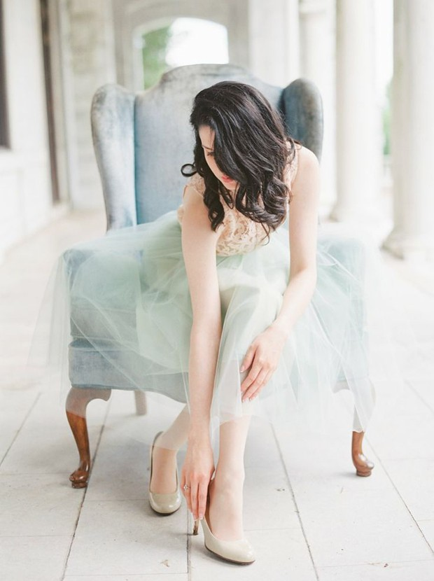 mint green tulle bridesmaid skirt