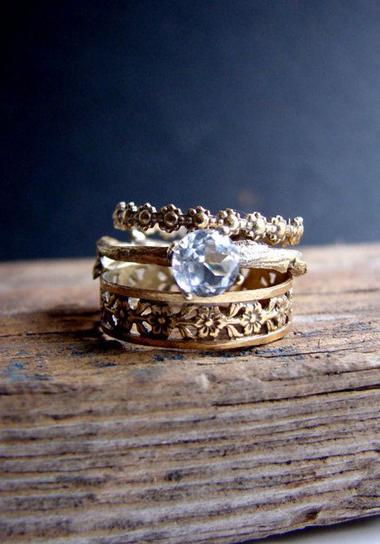 smoky quartz and gold wedding inspirations