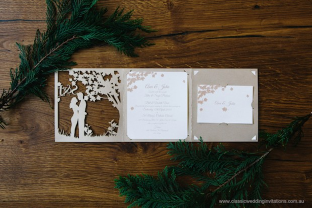 wedding invitation forest