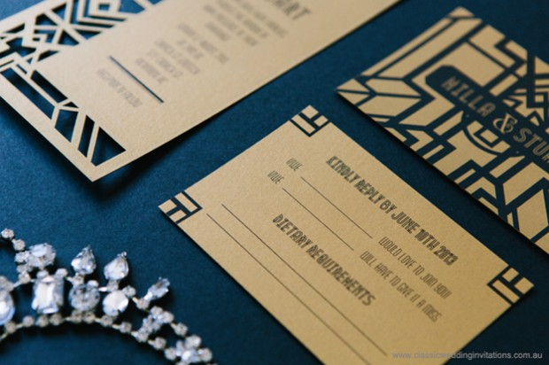 wedding invitations gatsby