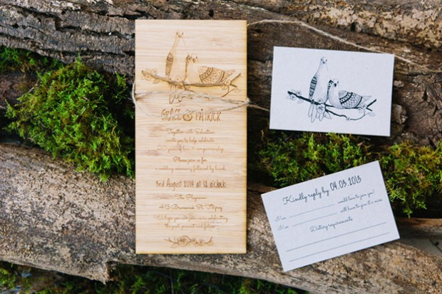 wooden wedding planner