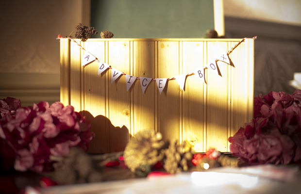 A Gorgeous Mulberry & Gold Christmas Winter Wedding: Tom & Emma