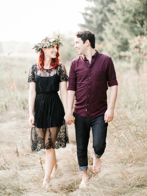 Beautiful Fine Art 'Woodland' Engagement Shoot With Autumnal Colours: Tyler & Laiken