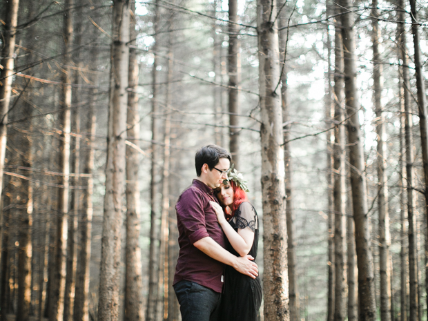 Beautiful Fine Art 'Woodland' Engagement Shoot With Autumnal Colours: Tyler & Laiken