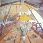 Cute & Kooky Pastel Pink & Mint Tipi Wedding With Lanterns & Bunting: Natalie & Tom