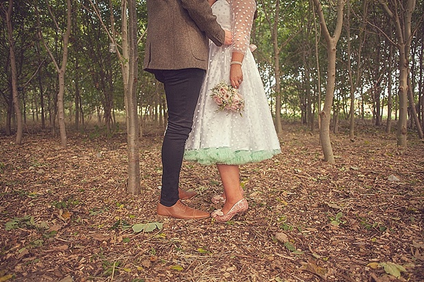 Cute & Kooky Pastel Pink & Mint Tipi Wedding With Lanterns & Bunting: Natalie & Tom