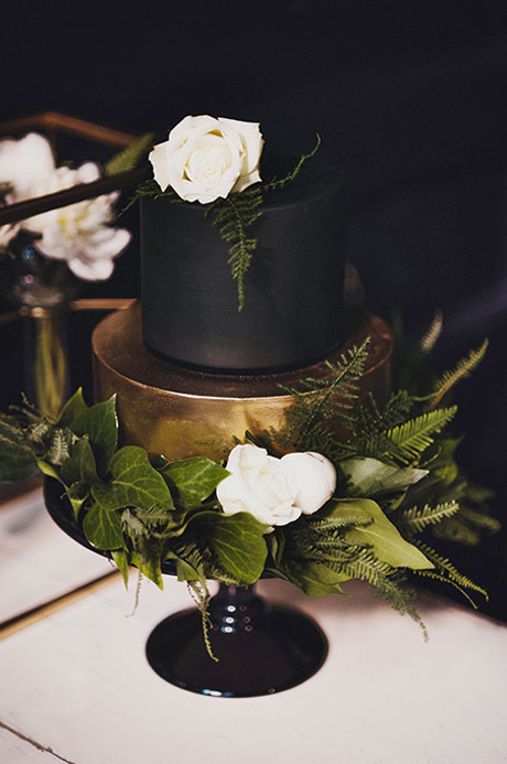 black wedding cakes with flowers black amp gold wedding inspiration colour ideas 11887
