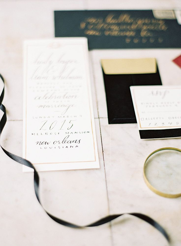 Black & Gold Wedding Inspiration: Colour Ideas