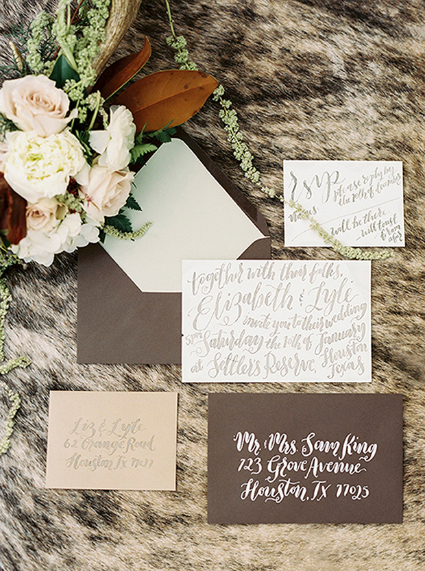 Chocolate Blush Wedding Inspiration & Colour Ideas