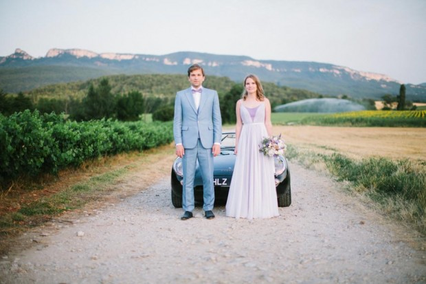 Amazing Lavender Fields Real Wedding