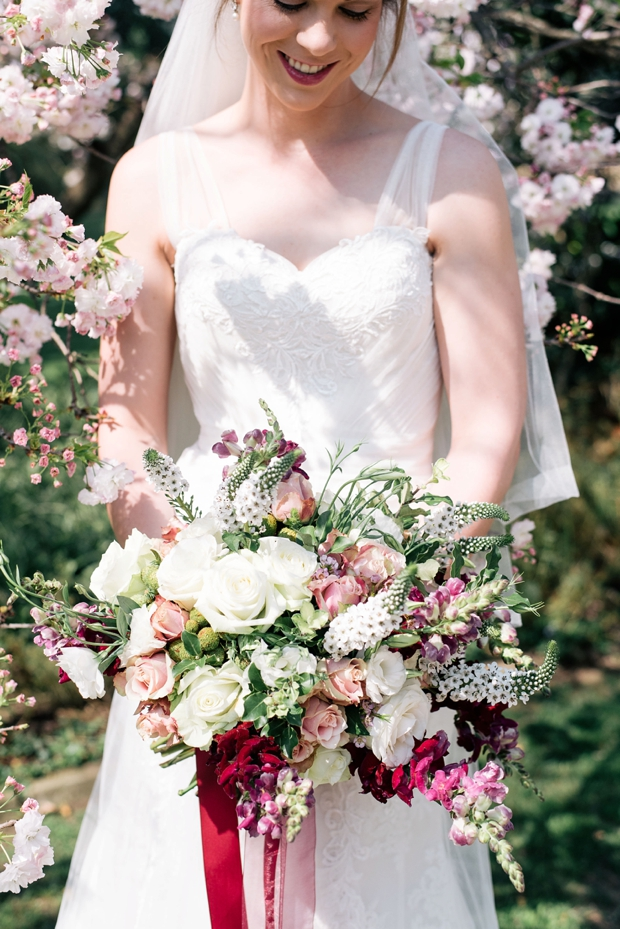 Dreamy Pink Blush & Marsala Wedding In Cherry Blossom Orchard: Lana & Herman