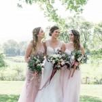 Dreamy Pink Blush & Marsala Wedding In Cherry Blossom Orchard: Lana & Herman