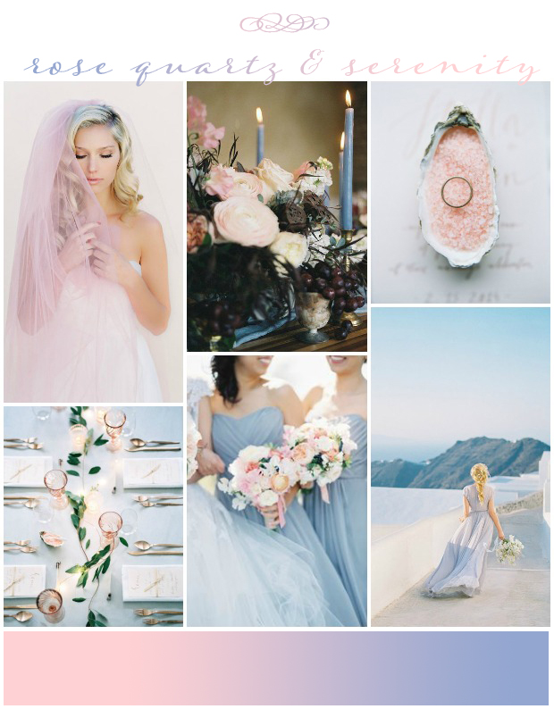 Pantone Colours of the Year 2016: Rose Quartz & Serenity!