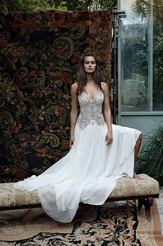 Beautiful boho wedding gowns for 2016 lihi hod white for Bohemian white wedding dress
