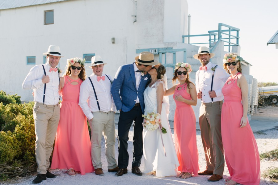 A Beautiful Beachy Wedding With Rustic Beach Wood, Coral & Peach Manu & Jennifer (100)