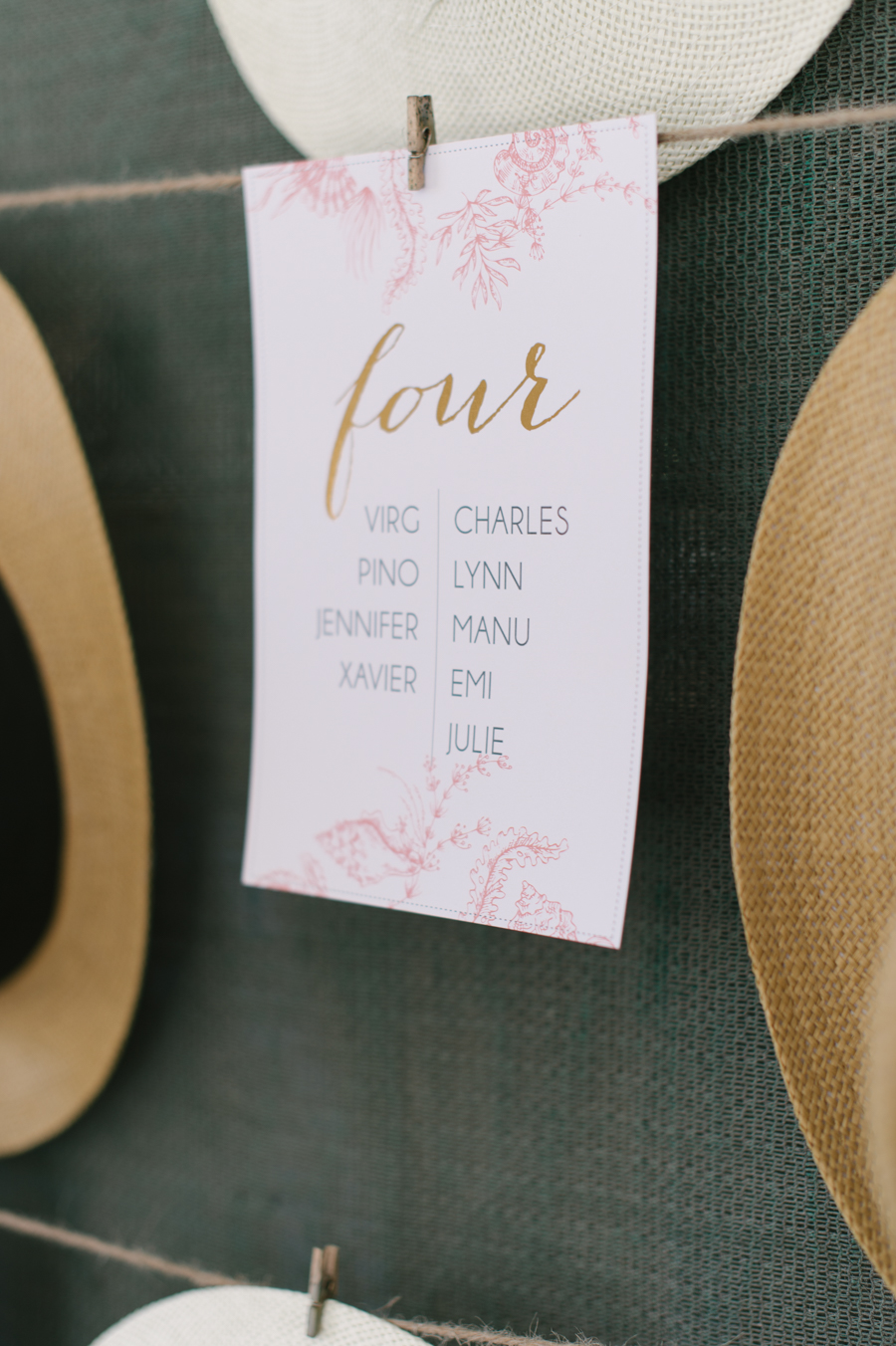 A Beautiful Beachy Wedding With Rustic Beach Wood, Coral & Peach: Manu & Jennifer